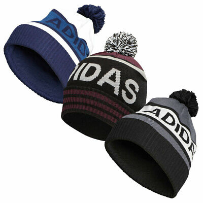 adidas Golf Mens 2018 Pom Winter Knitted Cuffed Beanie Bobble Hat