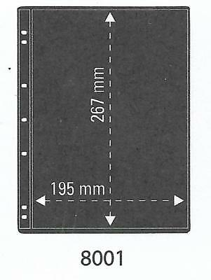 PRINZ PRO-FIL 1 STRIP BLACK STAMP ALBUM STOCK SHEETS Pack of 5 Ref No: 8001