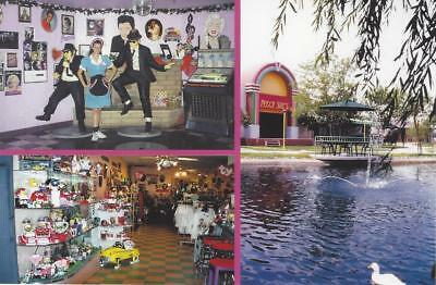 Peggy Sue 50s Roadside Diner Shopping Stroll Paradise Park Barstow CA Postcard