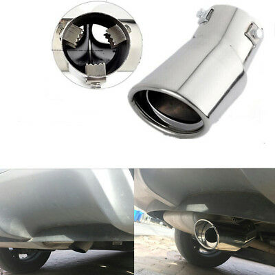Universal Car Stainless Steel Chrome Round Exhaust Tail Muffler Tip 62mm Pipe
