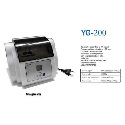 YG-200D entistry Dental mixing machine Amalgam conditioner Amalgamator 4350tr/mn