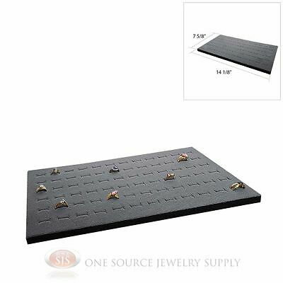 Gray Ring Display Pad Holds 72 Slot Rings Tray or Case Jewelry Insert