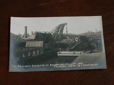 Original Real Photo Postcard,railway Disaster At Salisbury,july 1St 1906,lswr.