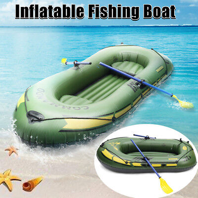 Inflatable Boat 3 Person Water Sports River Fishing Tender Dinghy Raft Set PVC