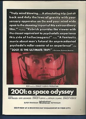 Vintage 1968 2001: A Space Odyssey magazine ad