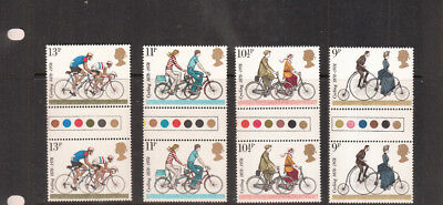 1978 Cycling Traffic Light Gutter Pairs Umm/mnh Sg1067-Sg1070