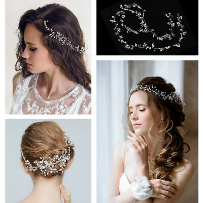 1m/1.5m Pearls Wedding Hair Vine Bridal Bridesmaid Vintage Accessories Headpiece