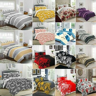 Duvet Cover with Pillow Cases Printed Quilt Bedding Set Single Double King Size✅