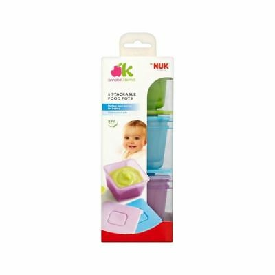 Annabel Karmel By Nuk Stackable Food Pots (Pack of 6)