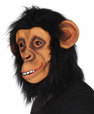 Adult Monkey Mask Animal Chimp Gorilla Fancy Dress Mask