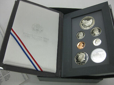 1991 S Prestige Proof Set Mount Rushmore 90% Silver Dollar 7 US Coins