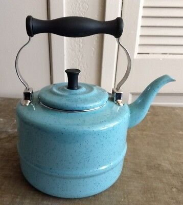 Paula Deen Collection Blue Spackle Teapot -Robin Blue Kitchen Decor-