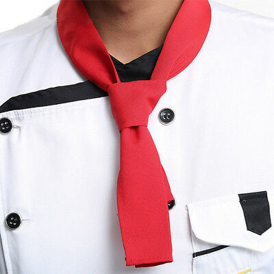 Chef Neck Scarf, Neckerchief Sweat Towel for Restaurant Kitchen Waiter - Red
