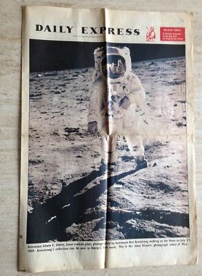 First Man On The Moon Colour Newspaper Supplement. Daily Express. August 1969.
