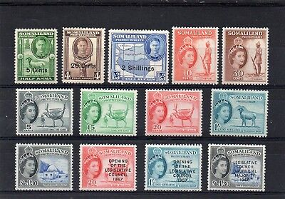 Somaliland Protectorate GVI & QE collection fine mint. Cat £54