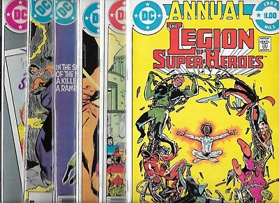 The Legion Of Super-Heroes Lot Of 5 - Annual #1 #2 #3 Special #1 (Fn+) + Free #5