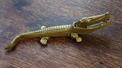 Antique Victorian Brass Crocodile Nutcracker English Made
