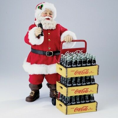 Coca Cola Santa with Delivery Cart Fabriche Christmas Figurine CC5151 Coke New