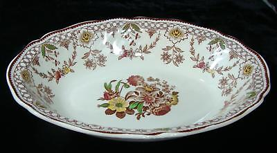 Vintage Royal Doulton The Glendale Brown Serving Bowl Made in England EUC 1949