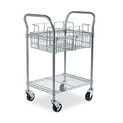 Safco Wire Mail Cart 600-pound Capacity 18-3/4-inch wide x 26-3/4-inch deep x