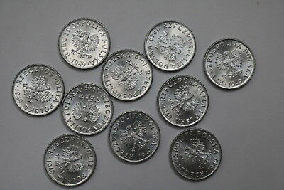 Poland 1 Grosz 1949 - 10 Coins Unc Lot A88 Rv13