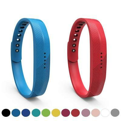 2 Pack Soft Replacement Band for Fitbit Flex 2 Sports Classic Fitness Wristbands