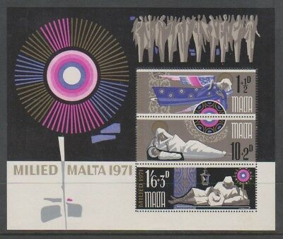 Malta - 1971, Xmas sheet - M/M - SG MS463