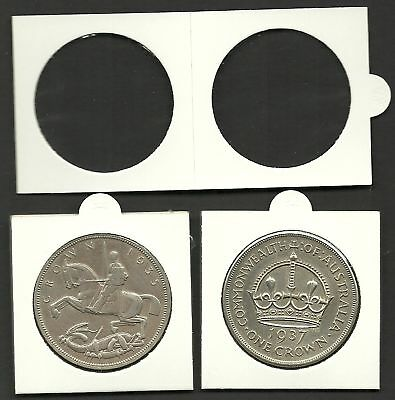 COIN HOLDERS 2 x 2 Self Adhesive 39mm Size for Crown Coins x Pack 100 Holders