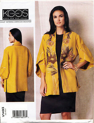 Vogue Sewing Pattern 1493 Misses 16-26 Loose-Fitting Kimono Jacket - Plus Sizes