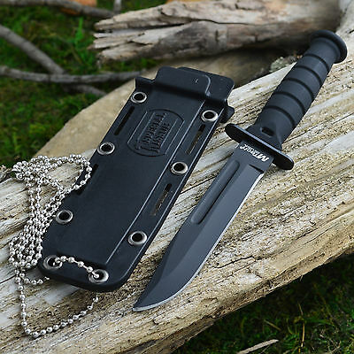 "Mtech 6"" Kabai Tactical Neck Knife With Kydex Sheath and Beaded Chain 632DB"
