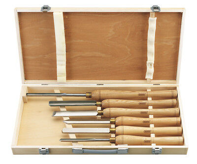 Narex Set Of Woodturning Chisels HSS Line Profi With Wooden Carrying Case