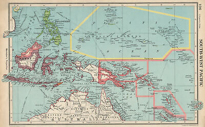SOUTH-WEST PACIFIC. Melanesia Micronesia Indonesia Philippines 1952 old map