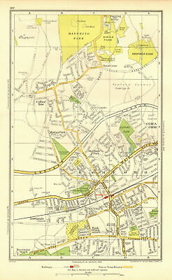 ROMFORD. Collier Row Rush Green Havering-atte-Bower Rise/Gidea Park 1937 map