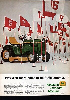 Old John Deere Tractor Play 378 More Holes Of Golf This Summer Ad