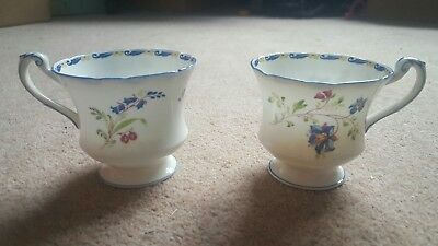 Paragon Star Teacups English Bluebell Vintage early 20th century