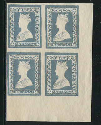 EAST INDIA 1854 QV Victoria One Anna Essay Stamp B/4 OG Gummed Aged REPLICA