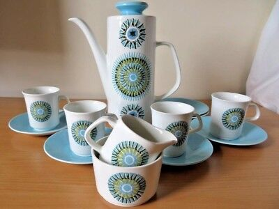 Iconic Retro J.g. Meakin Aztec Part Coffee Set V.g.cond 1966
