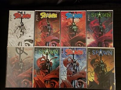 SPAWN #286 ABCDEFGH COVERS (IMAGE) COMPLETE SET OF 8 TODD McFARLANE VARIANTS