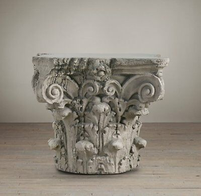 Restoration Hardware SCROLLING CORINTHIAN CAPITAL SIDE TABLE -sold out