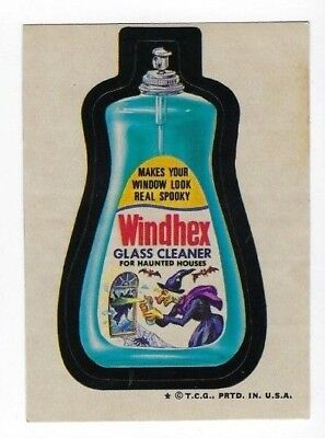 1973 Topps Wacky Packages 4th Series 4 WINDHEX GLASS CLEANER nm- o/c