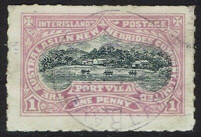 New Hebrides 1897 Australasian Company Local Post 1D Used