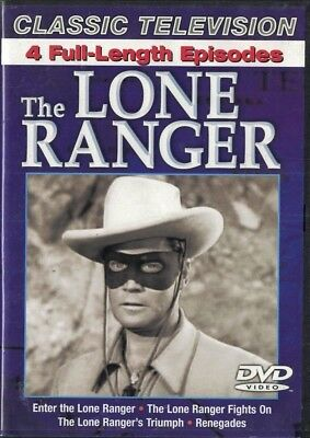 The Lone Ranger Classic Television 4 Full Length Episodes DVD NEW