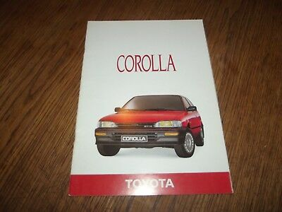 Catalogue Toyota Corolla 1987.