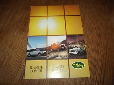 Catalogue Land Rover, Range Rover 1985.