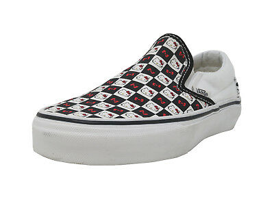 9304839e180 VANS Classic Slip On Hello Kitty Black White Red Checkerboard Sneakers Men  Shoes