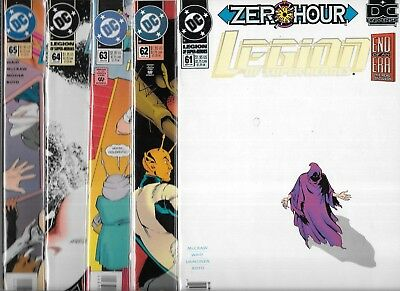 The Legion Of Super-Heroes (1989) Lot Of 5 - #61 #62 #63 #64 #65 (Nm-)