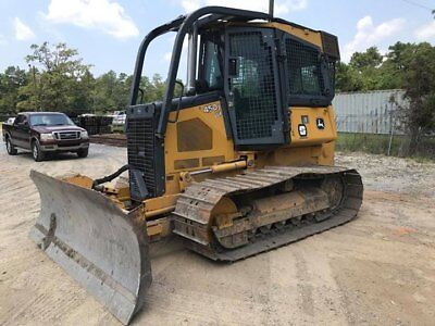 2012 John Deere 450J LGP Crawler Dozer Cab Air Conditioning Winch 1,379 Hours