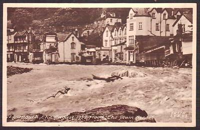 LYNMOUTH FLOOD 1952 The Main Street Postally Unused Postcard