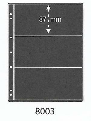 PRINZ PRO-FIL 3 STRIP BLACK STAMP ALBUM STOCK SHEETS Pack of 5 Ref No: 8003