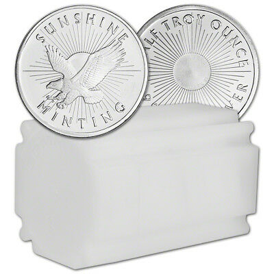 1/2 oz. Silver Round - Sunshine Minting - .999 Fine (Lot, Roll, Tube of 20)